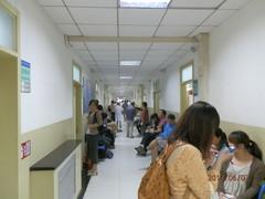 7.6.2013 sairaalan käytävää